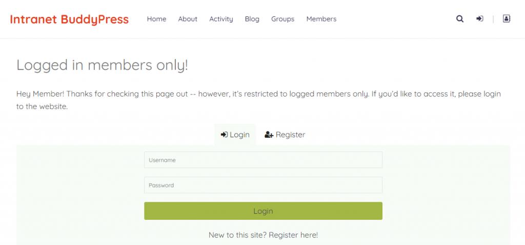 Private Community Website