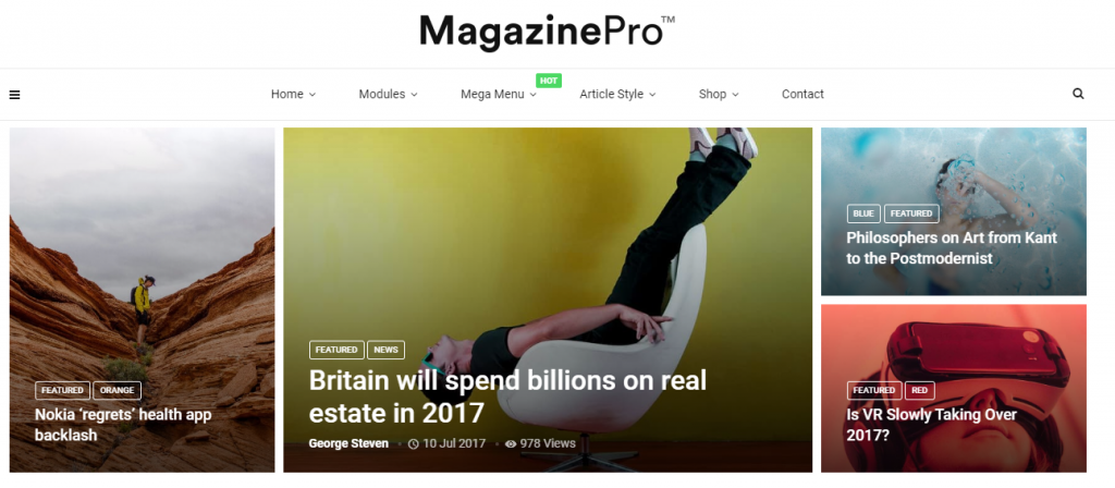 blog magazine and newspaper WordPress theme
