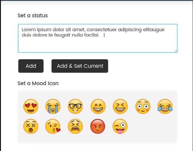 BuddyPress Reactions and Status