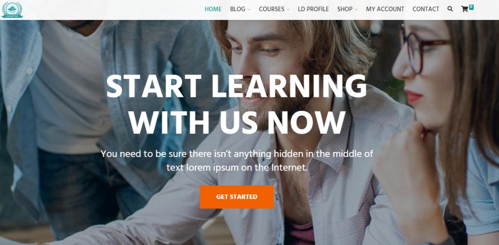 e-learning website