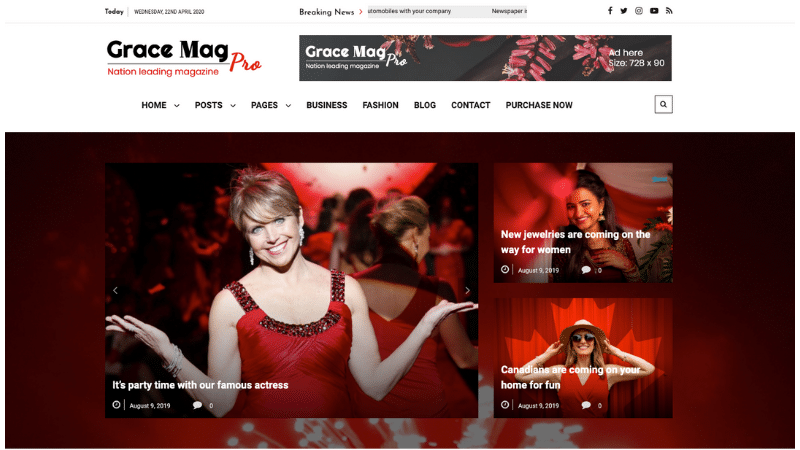 GraceMag Theme