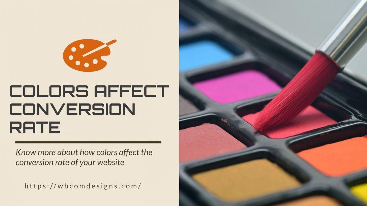Colors Affect Conversion Rate