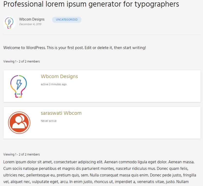 Screenshot 5 - Wbcom Designs