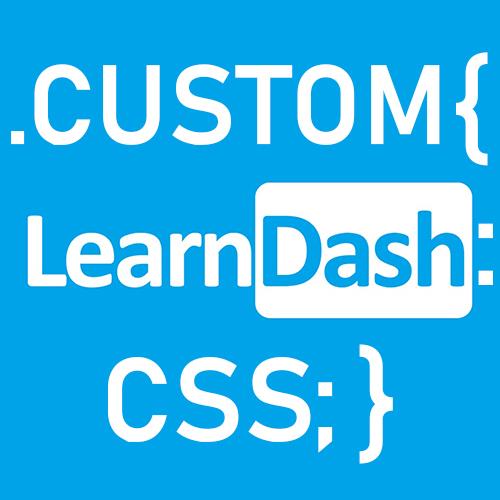 Custom LearnDash CSS Plugin