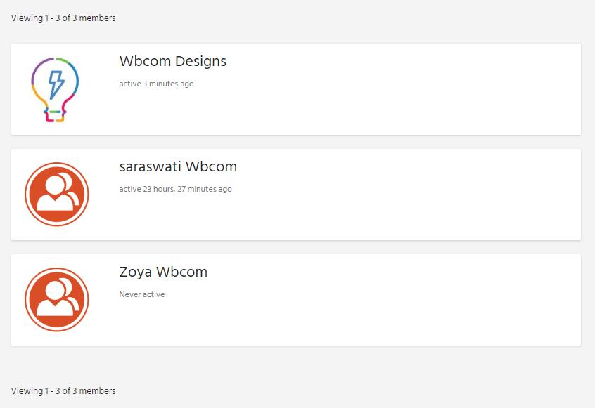 member listinfg2 - Wbcom Designs