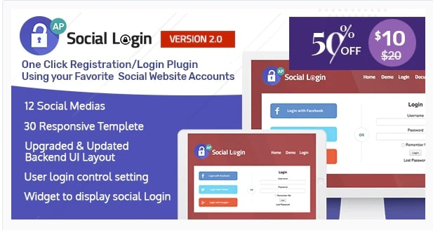 Accesspress social login plugin