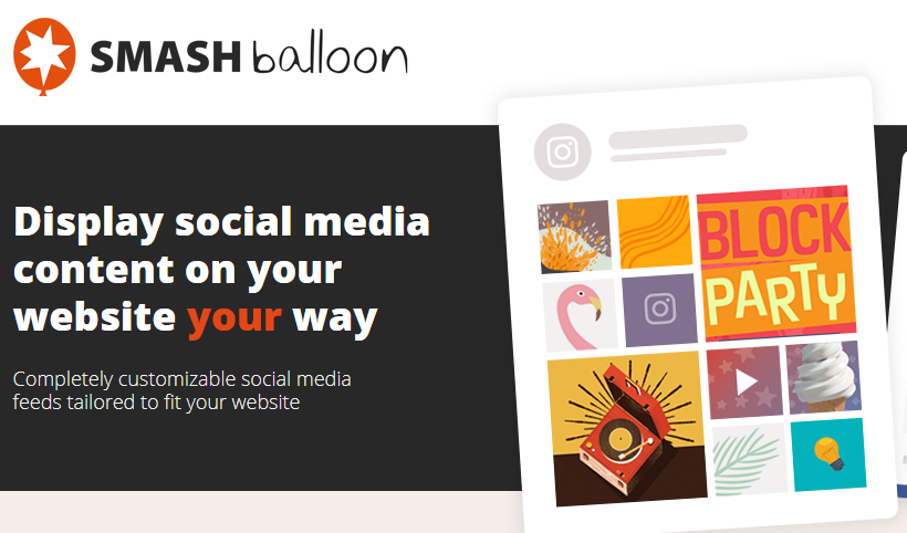 Smash balloon facebook WordPress plugin
