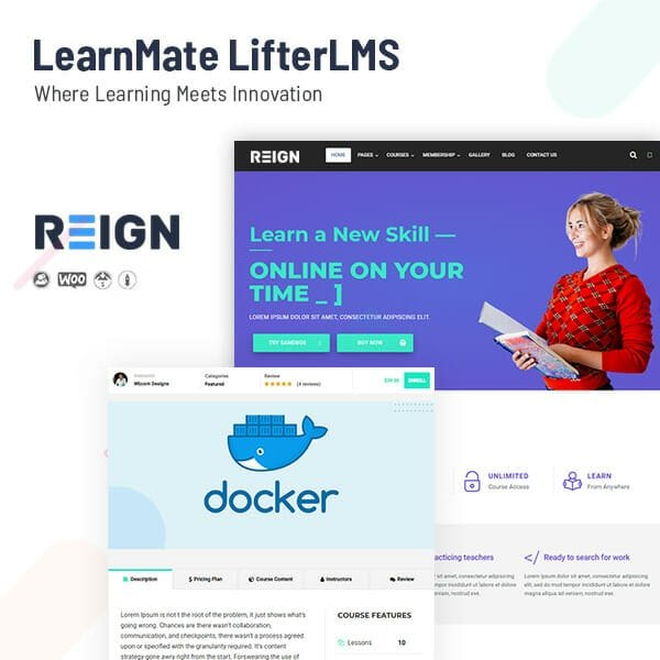 LearnMate LifterLMS Theme, Ecommerce design requirements