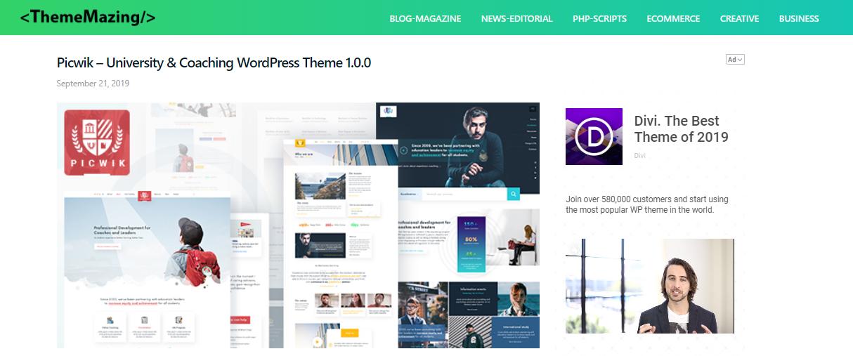WordPress theme for speaker