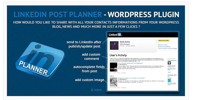 schedular, WP LinkedIn Plugin