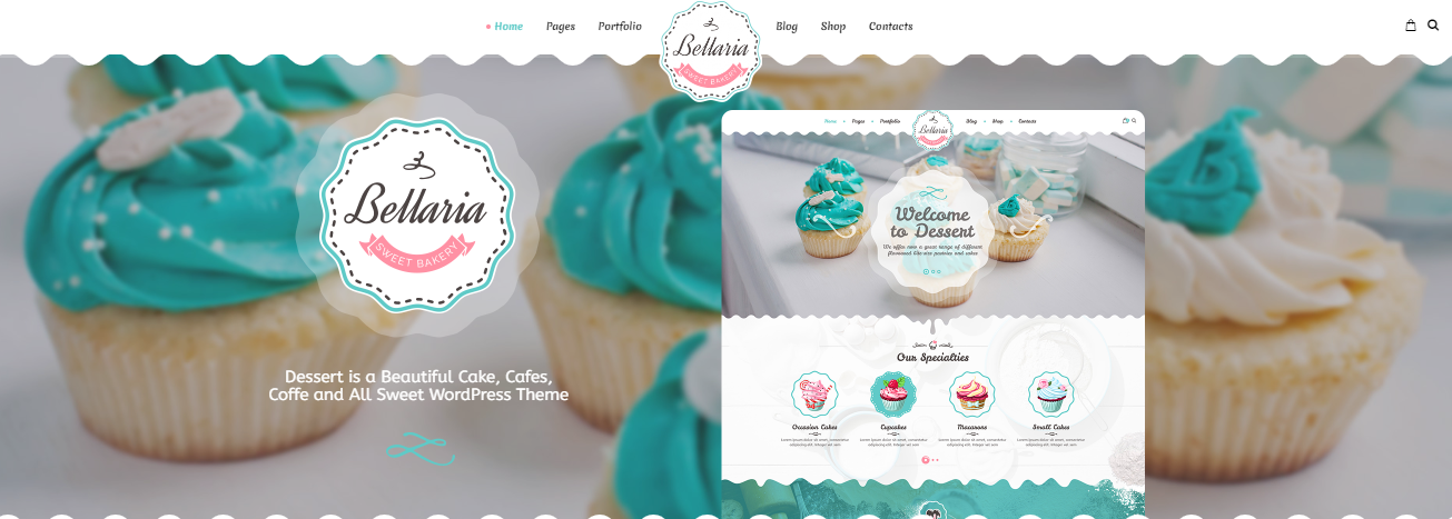Bellaria WordPress Themes For Bakeries