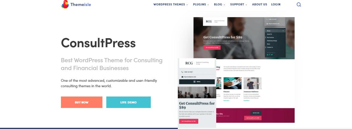 Insurance WordPress Themes consultpress