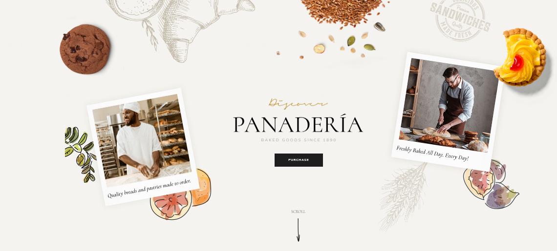 Panaderia WordPress Themes For Bakeries