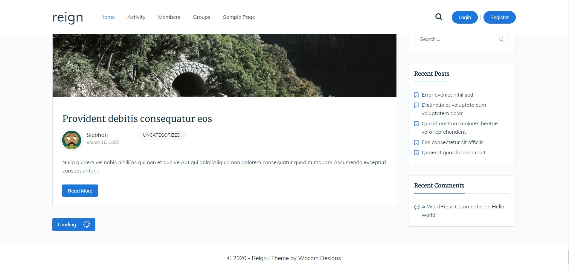 Reign Theme – Infinite Blog post auto load