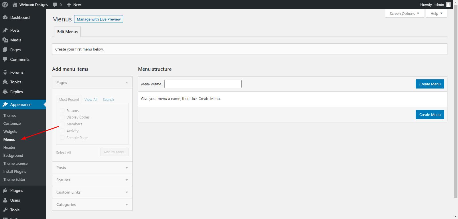 Add Forums in WordPress