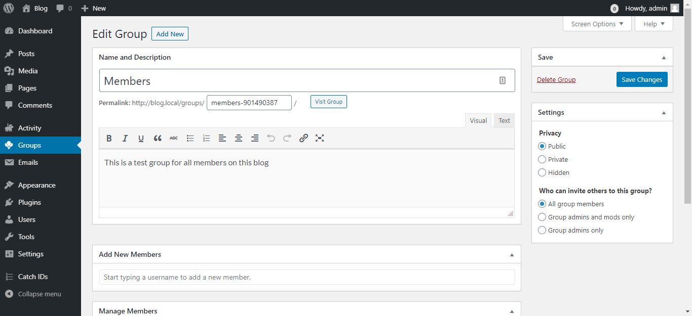Can Admin Add Users To Buddypress Groups?