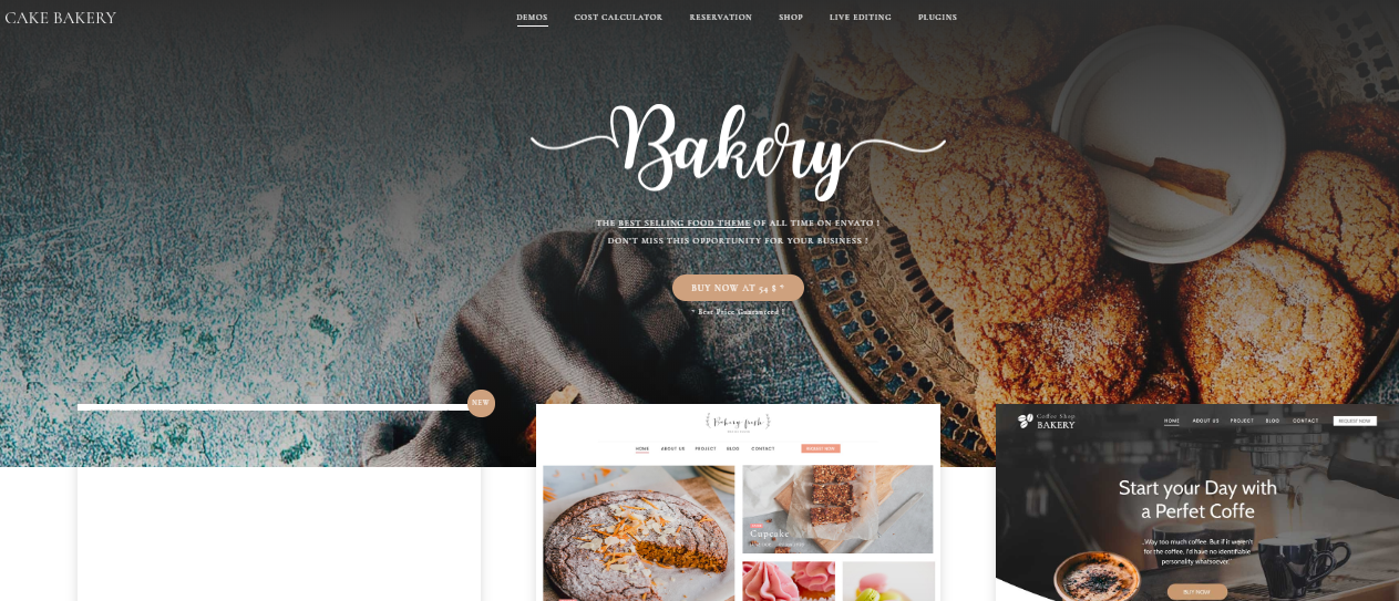 Sweet Cake WordPress Themes For Bakeries