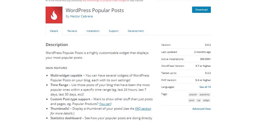 WordPress Popular Post Plugins For WordPress