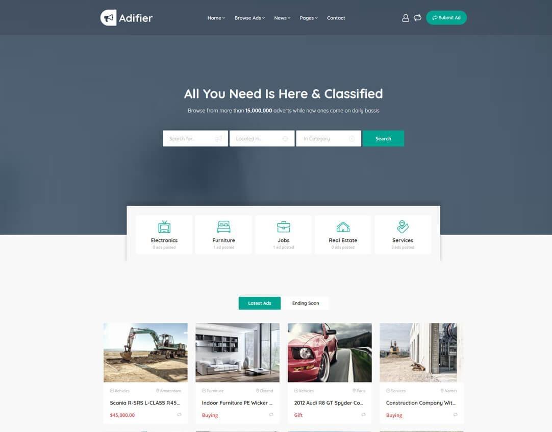 Adifier WordPress ads theme