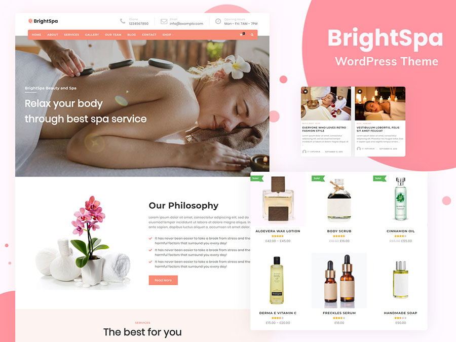 brightspa theme - Wbcom Designs