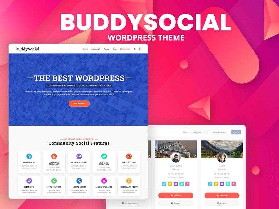buddysocial theme - Wbcom Designs