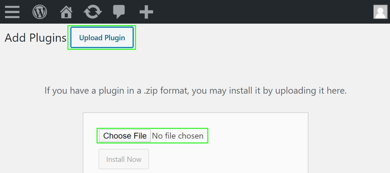 choose a file in plugin