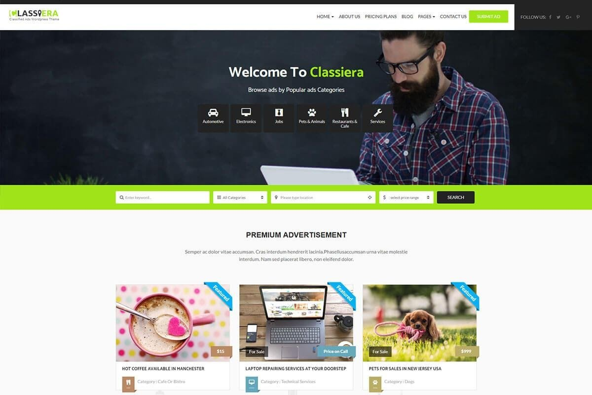 classified ads themes