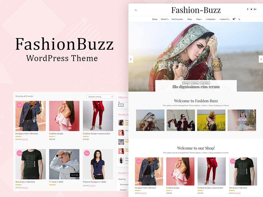 fashion buzz theme - Wbcom Designs