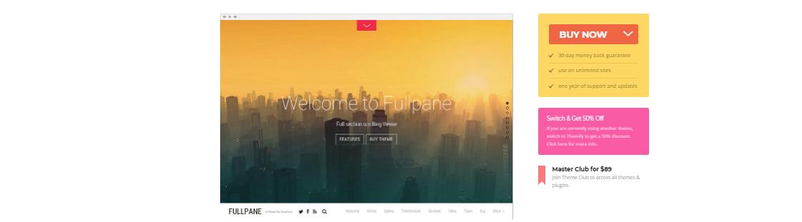 fullpane digital agency wordpress themes