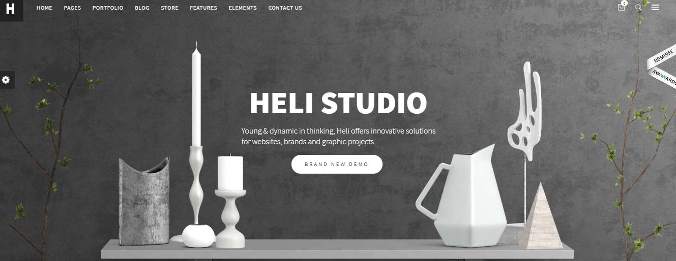 heli wordpress theme for digital agency