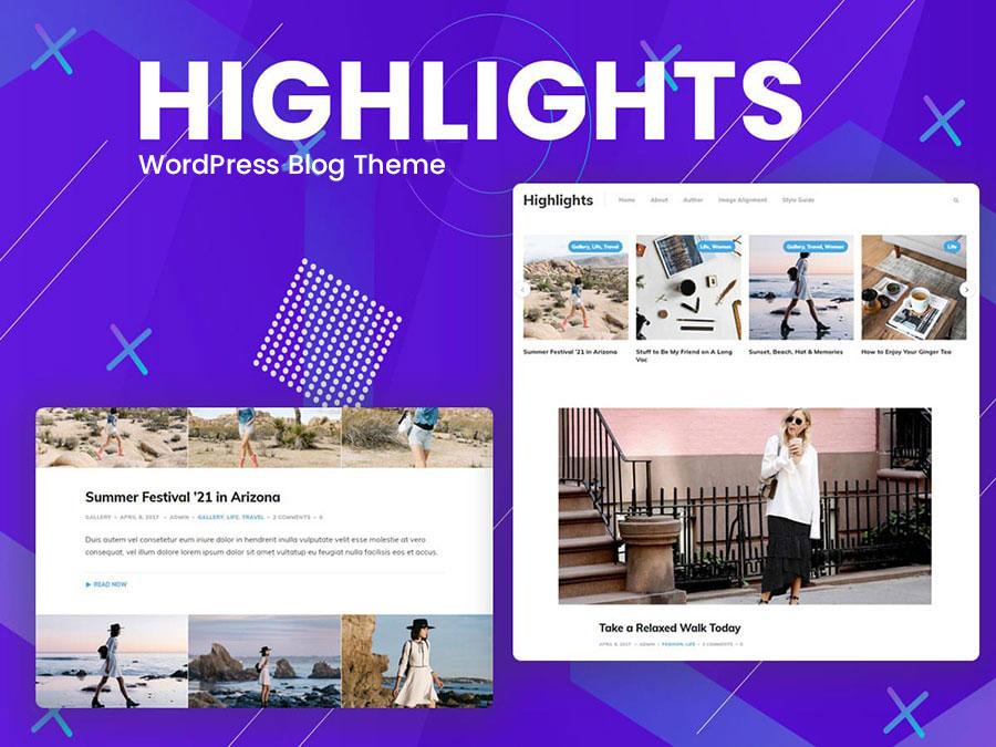 hightlights theme min - Wbcom Designs