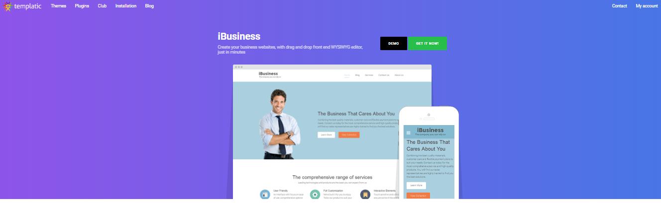 Insurance WordPress Themes of ibusiness