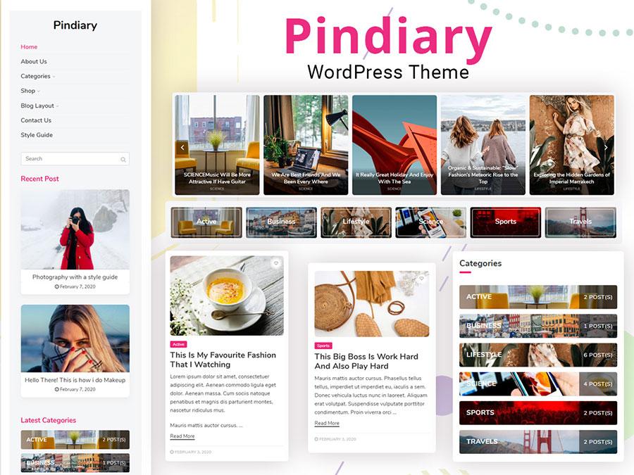 pindiary theme - Wbcom Designs