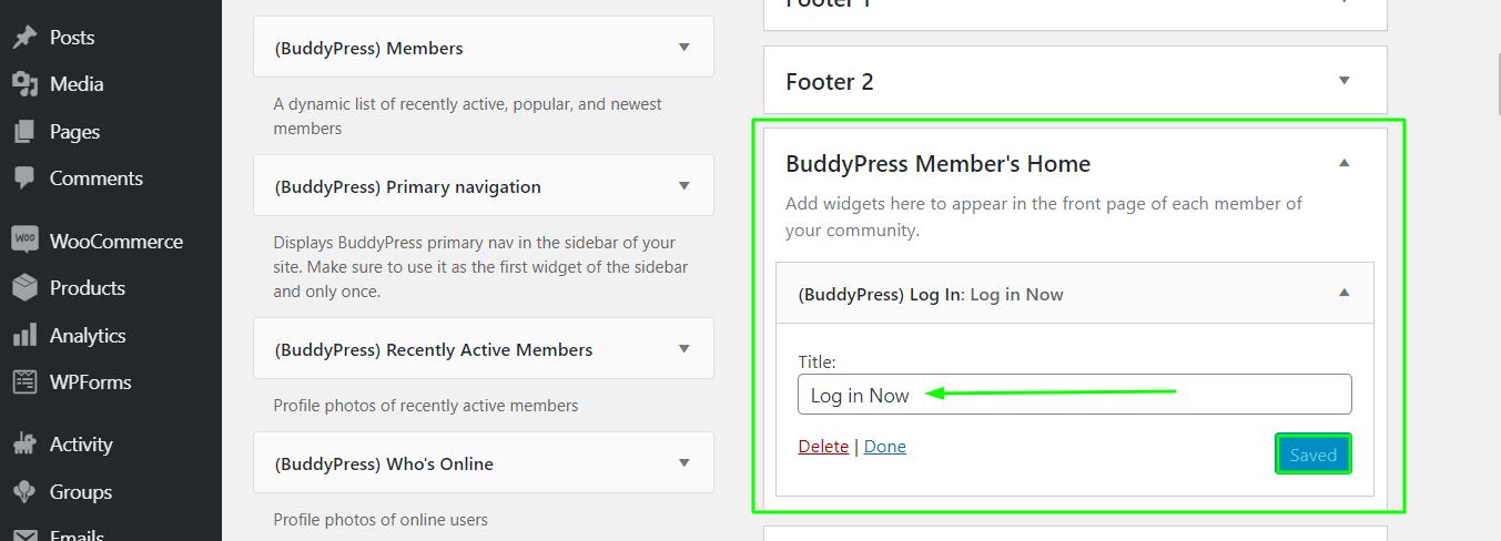 How Do I Put A Buddypress Login On A Page?