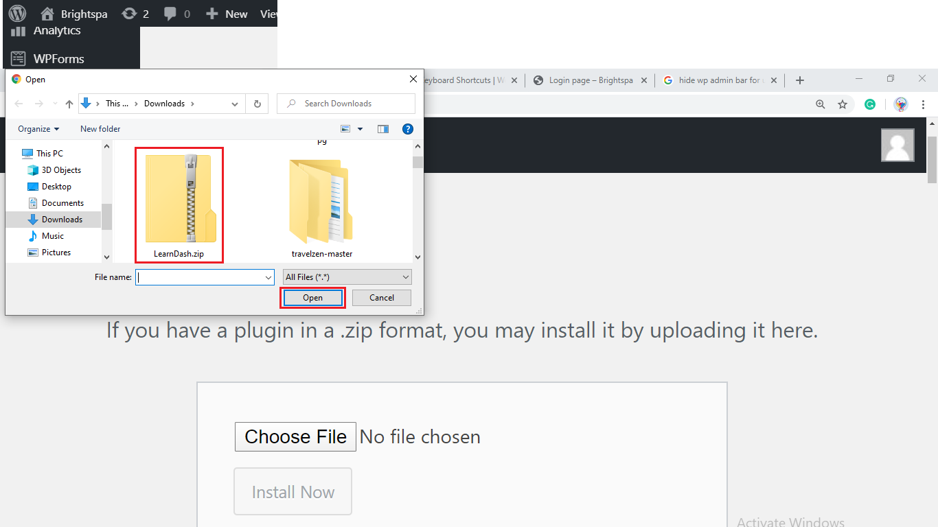 upload a file