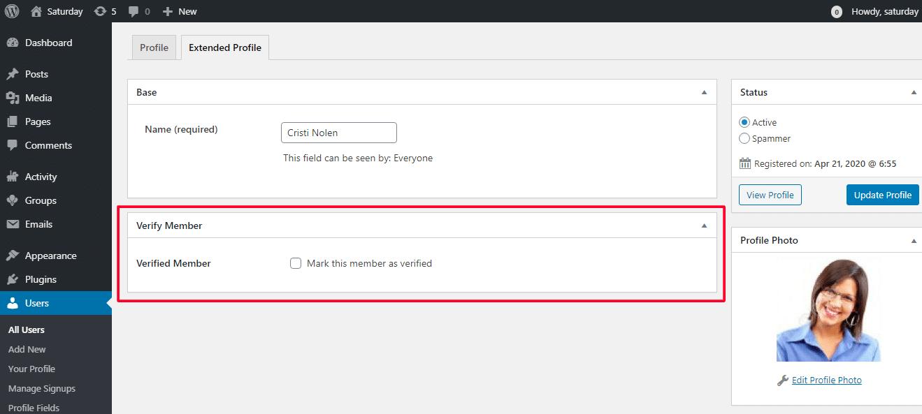 Verified Member For BuddyPress Plugin Review