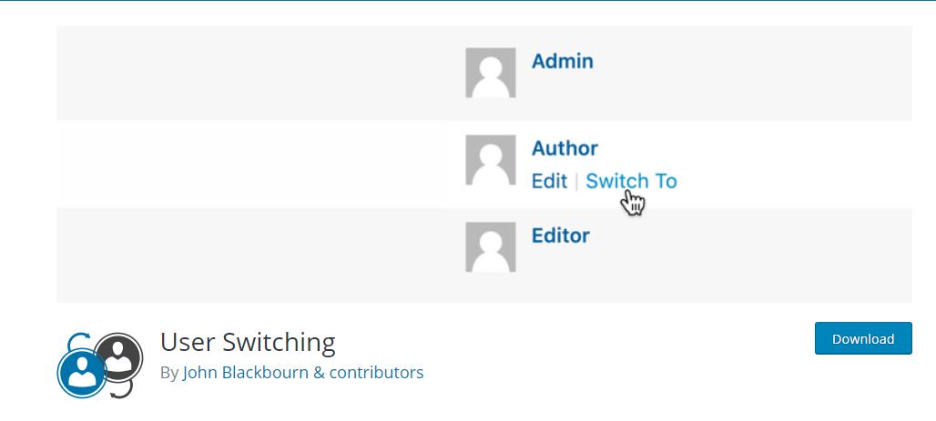 WordPress User Switching Plugin