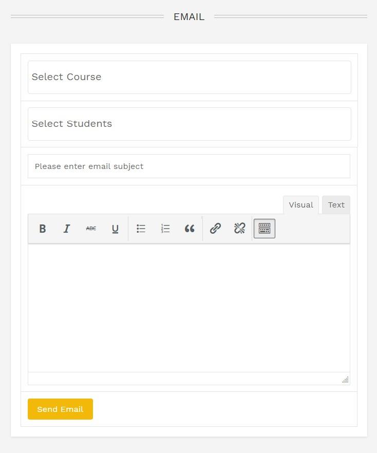 My Dashboard Send Email - Wbcom Designs