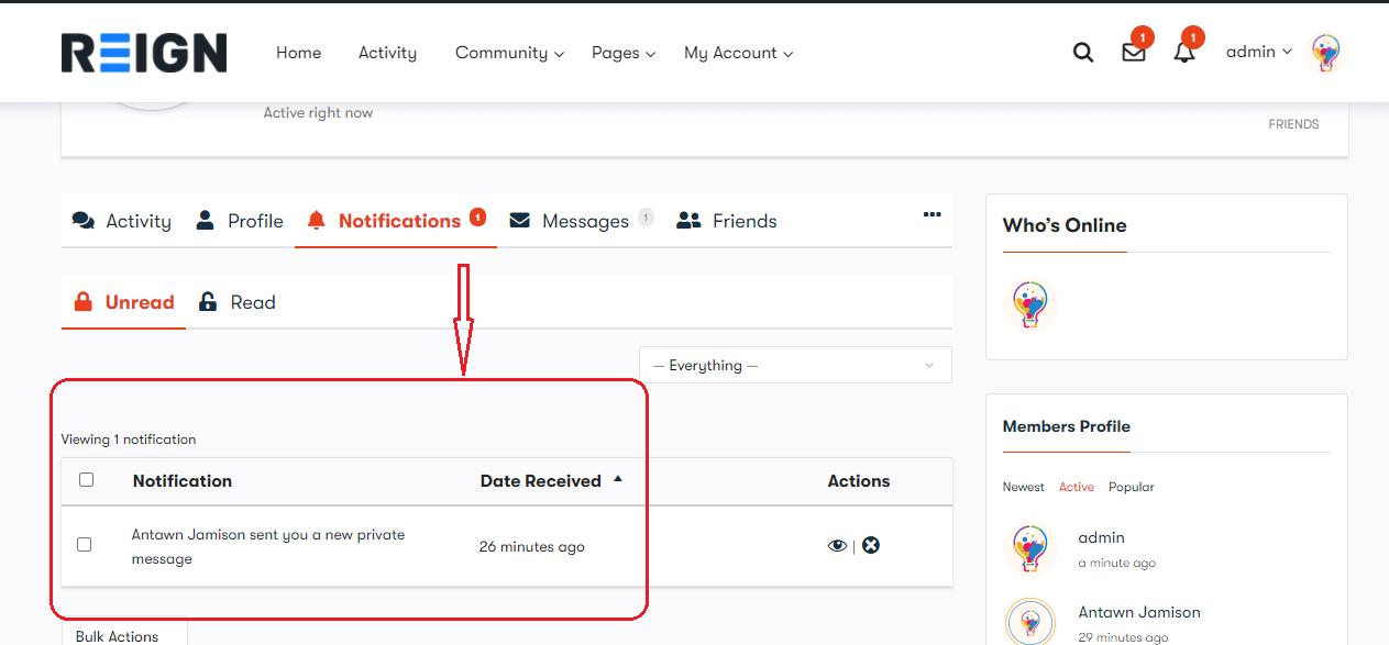 BuddyPresss live notification