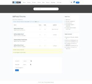 bbPress Forums Index– Reign Demos 1 - Wbcom Designs
