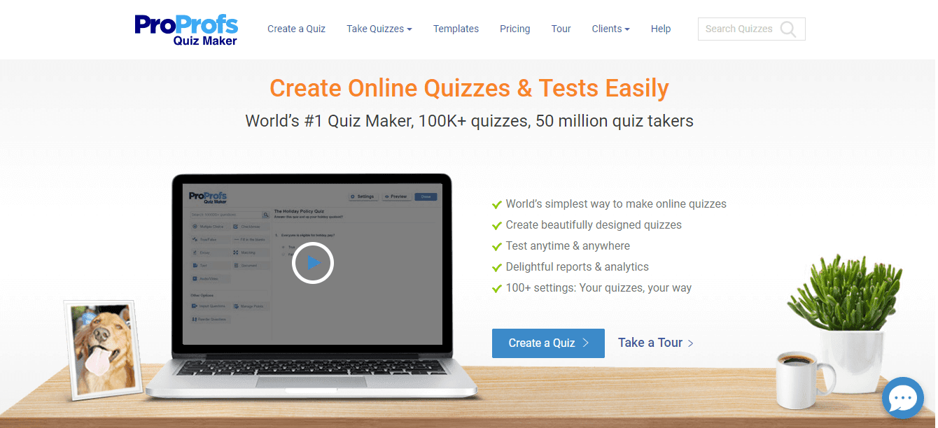 pro profs, Quiz Creator Tools