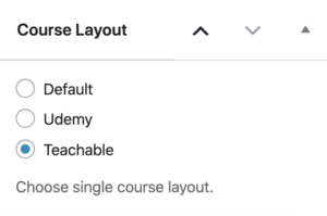 Learndash single course layout switch