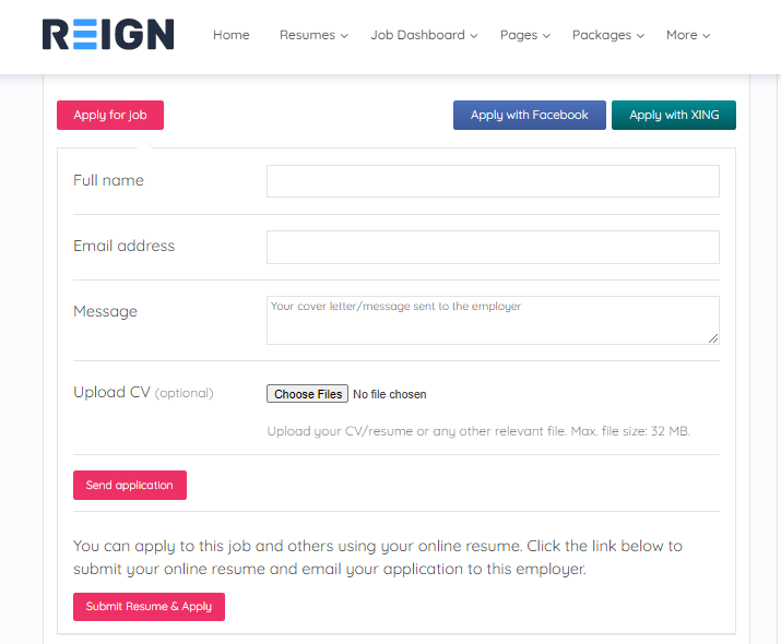Manage the applications from Job dashboard