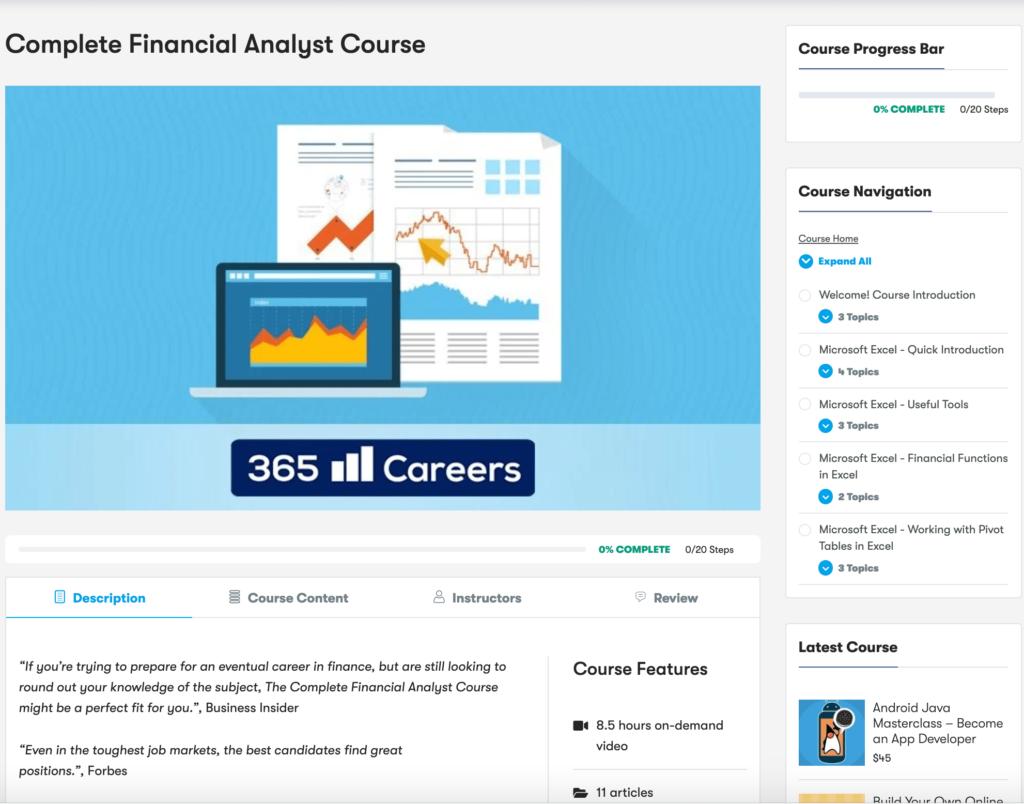 LearrnDash Course layout - Wbcom Designs