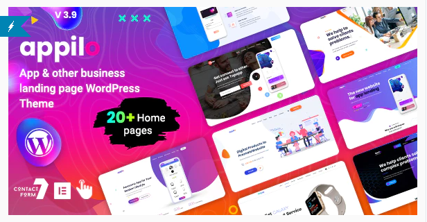 App Landing Page WordPress Themes