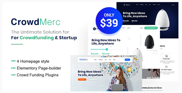 crowd merc Crowdfunding WordPress Themes