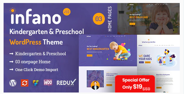 Preschool and Kindergarten WordPress Themes