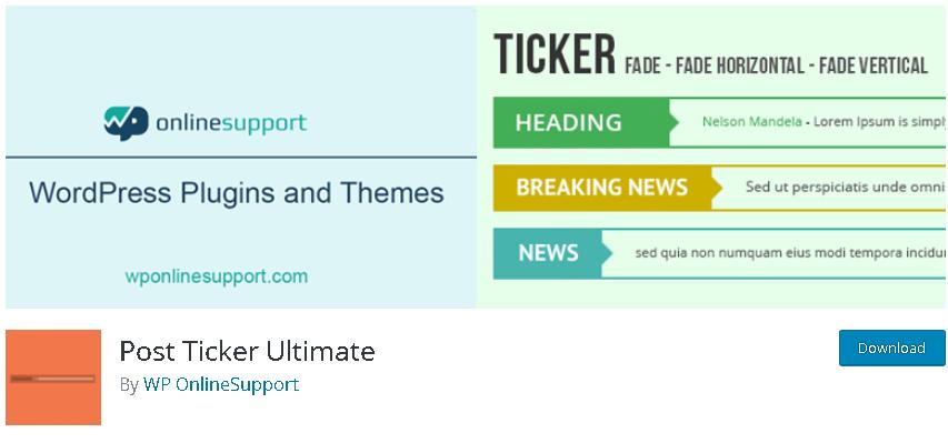 News ticker WordPress Plugins