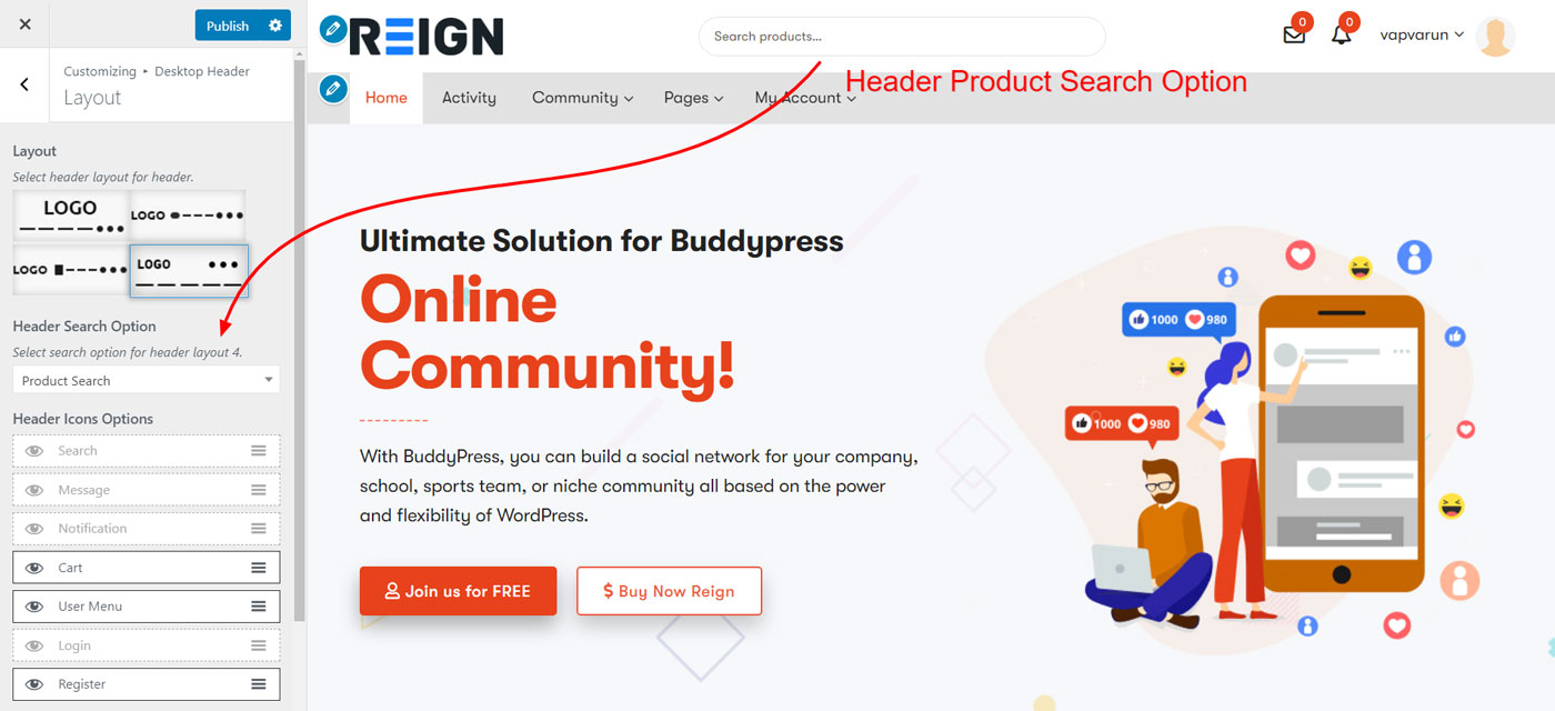 product search options - Wbcom Designs