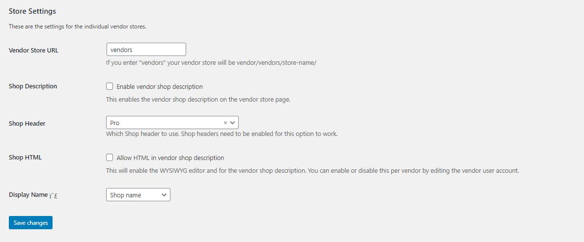 store settings - Wbcom Designs